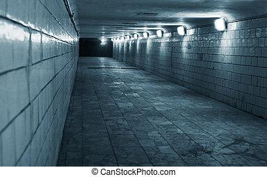 tunnel, ville, urbain