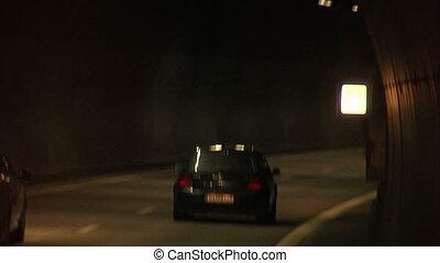 tunnel, voitures