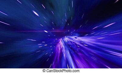 tunnel, vortex., résumé, vagues, hyper, saut, concept, gravitational, spacetime, énergie, trou ver, space., par, interstellaire, singularité, ou, chronométrer voler, voyage