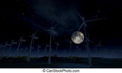 turbine, (1277), énergie, vent, électrique
