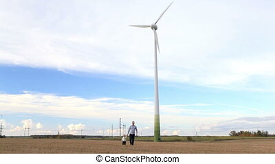 turbine, père, vent, fils