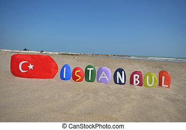 turc, istanbul, drapeau