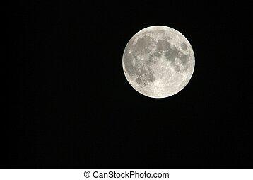 turin, italie, éclipse, lentille, par, lunaire, vue, phase, téléobjectif