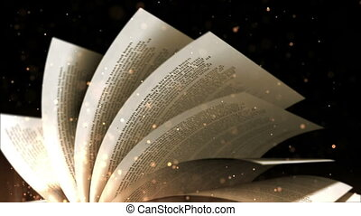 """""""turning, book"""", vieux, pages"""