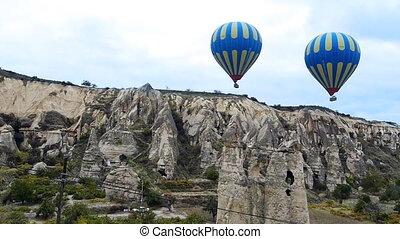 turquie, mouche, nature, baloon, miracle, 2, cappadocia, fée, vacances, tourisme, cheminée