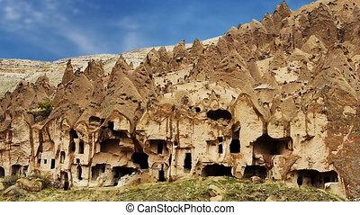 turquie, nature, caverne, miracle, 9, cappadocia, fée, vacances, tourisme, cheminée