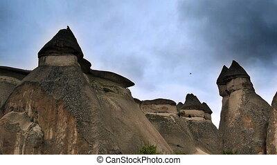 turquie, nature, miracle, 1, cappadocia, fée, vacances, tourisme, cheminée