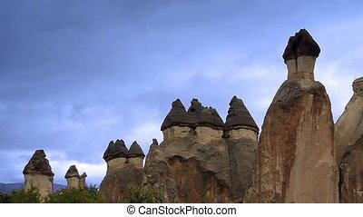 turquie, nature, miracle, 2, cappadocia, fée, vacances, tourisme, cheminée