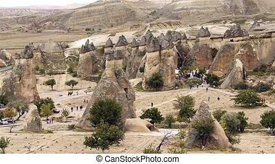 turquie, nature, miracle, 4, cappadocia, fée, vacances, tourisme, cheminée