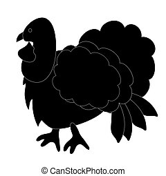 turquie, -, silhouette., noir