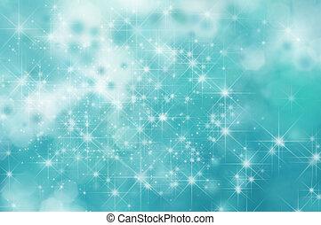 turquoise, étoile, fond