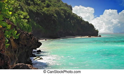 turquoise, lagune, boucle