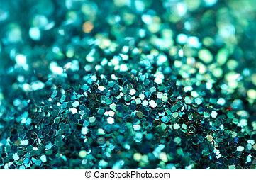 turquoise, macro, arrière-plan., vacances, brillant, flou