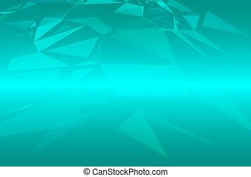 turquoise, triangle, tailles, aléatoire, nuances, fond