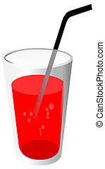 tuyau, boisson, rouges