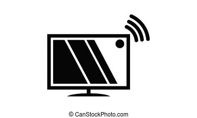 tv, animation, icône