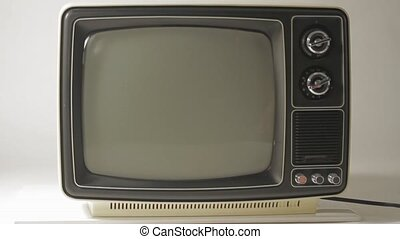 tv, blanc, noir