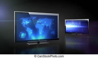 tv, bussines, données, lcd