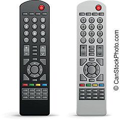 tv, contrôleur, éloigné