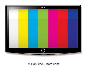 tv, essai, lcd, écran