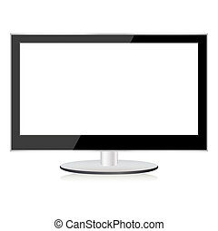 tv, lcd., écran plasma, plat