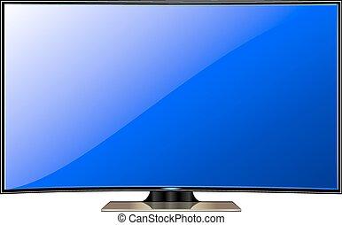 tv, lcd, plasma, vector.