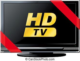 tv, lsd, ruban, rouges
