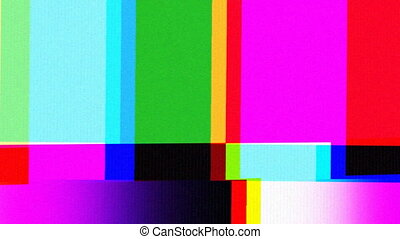 tv, modèle, testcard