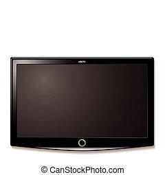 tv, mur, lcd, pendre