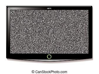tv, mur, lcd, pendre, statique
