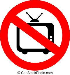 tv, non, signe