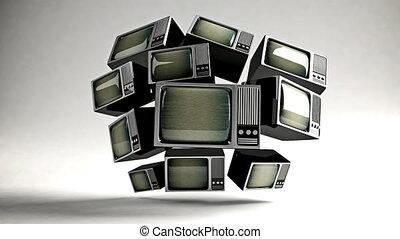 tv, retro, static.