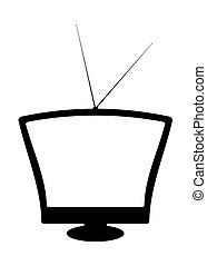 tv, silhouette, retro