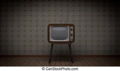 tv, vieux, -, vert, bon, salle, transition