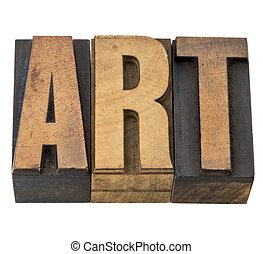 type, art, bois, mot