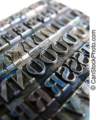 type, letterpress