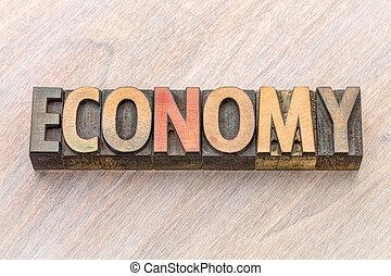 type, résumé, bois, mot, économie