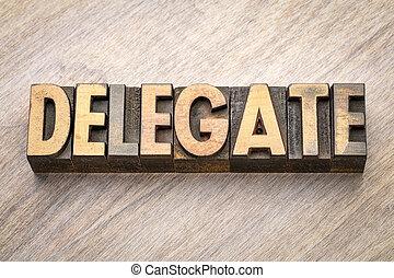 type, résumé, bois, mot, délégué