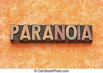 type, résumé, bois, mot, paranoïa