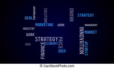 typographie, animation, -, business