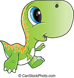 tyrannosaurus rex, dinosaure, mignon