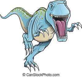 tyrannosaurus rex, dinosaure, vecteur
