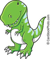 tyrannosaurus rex, vecteur, dinosaure