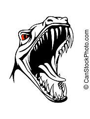 tyrannosaurus, tête