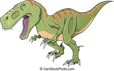 tyrannosaurus, vecteur, art, dinosaure