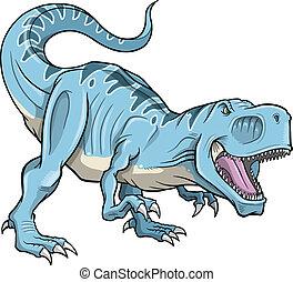 tyrannosaurus, vecteur, dinosaure