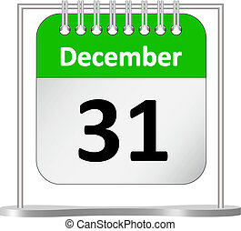 %u2013, décembre, calendrier, 31, rue