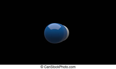 uhd., pilules, white-blue, looping., rotating., /, seamless, 4k, rendering., matte., alpha, luma, 3d, canal, isolé