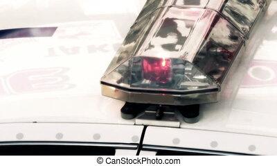 uhd, surveiller voiture, -, lumières, version, 4k, propre, clignotant