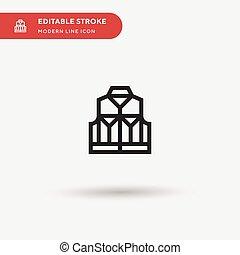 ui, symbole, icon., projet, couleur, vecteur, conception, toile, simple, editable, icônes, gilet, ton, mobile, moderne, gabarit, element., parfait, illustration affaires, pictogramme, stroke.